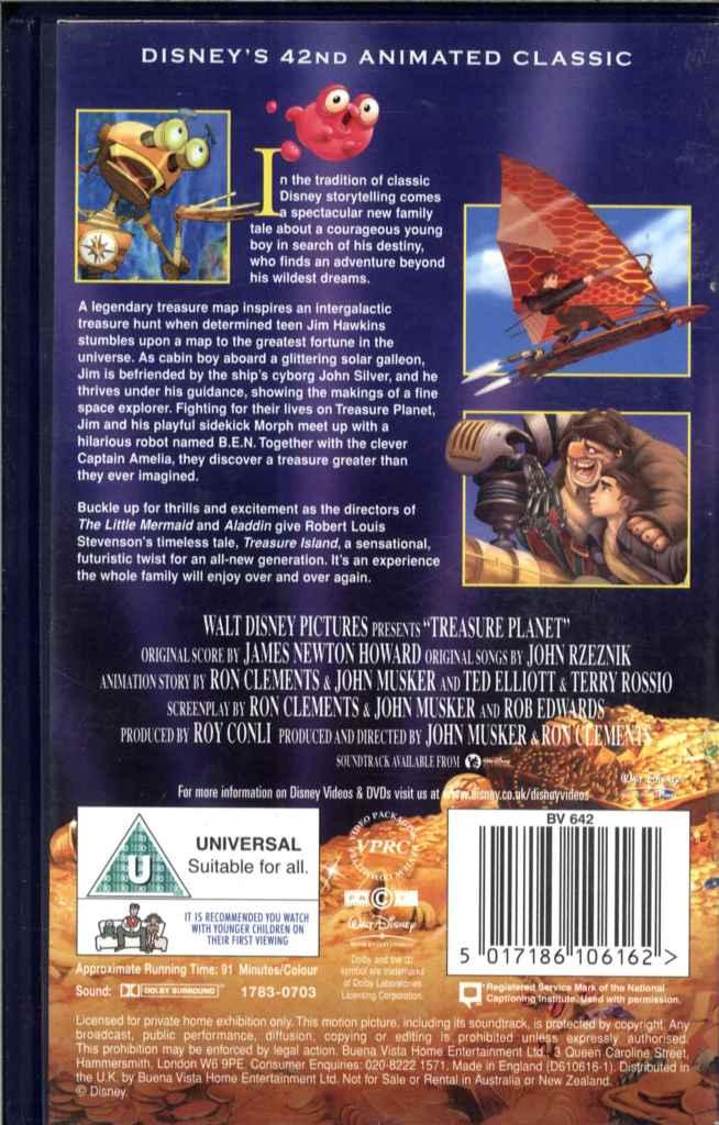 walt disney classics treasure planet vhs video tape