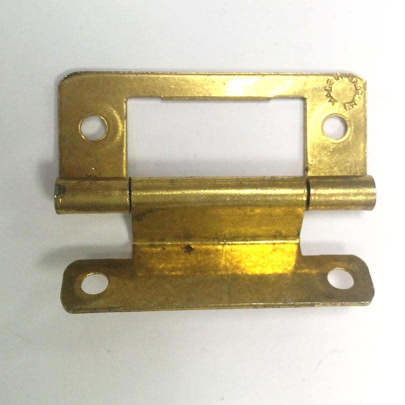 2x 2 flush cabinet hinge brass cupboard cabinet semi for Flush cabinet hinges
