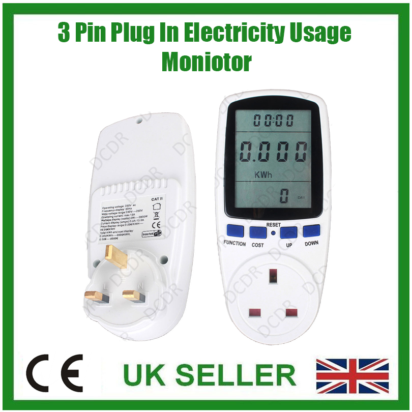Power Consumption Meter : Electric power consumption meter measures energy use