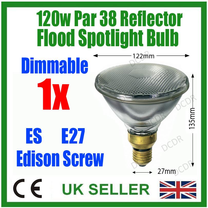 120w par 38 reflector flood light bulb es e27 screw dimmable security. Black Bedroom Furniture Sets. Home Design Ideas