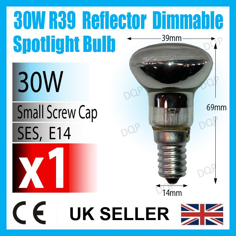 1x 30w R39 Reflector Spot Light Dimmable Bulb Lava Glitter