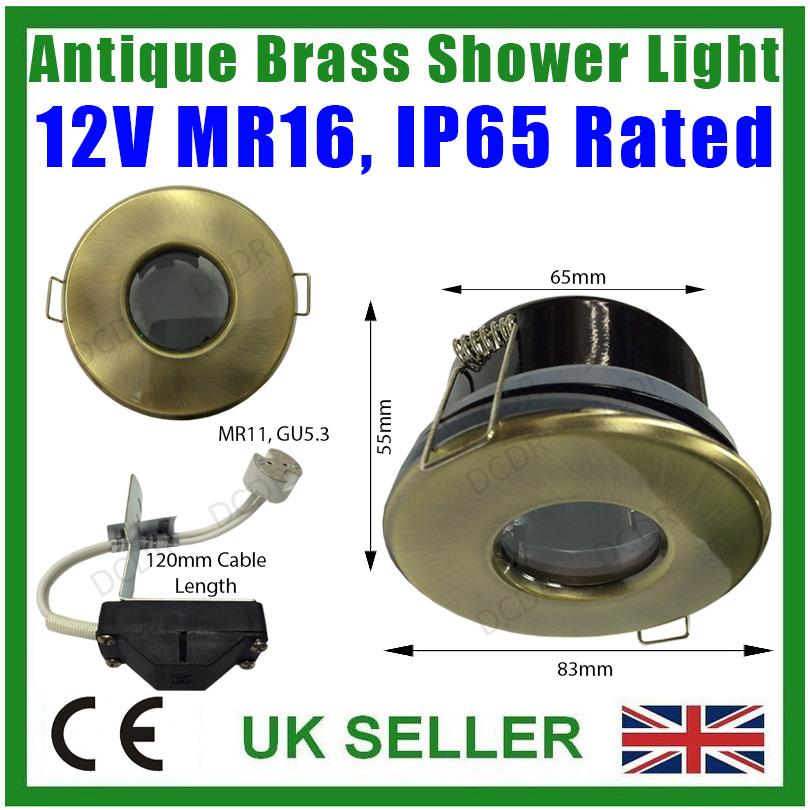 4x laiton ancien ip65 led douche lampe salle bain mr16 for Lampe salle de bain ip65