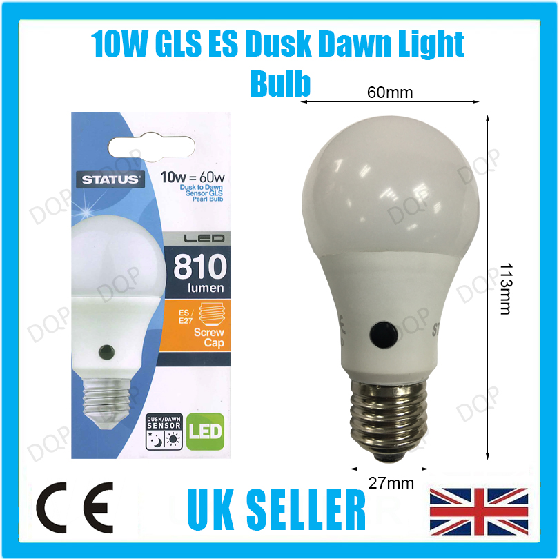 10w 60w led gls dusk till dawn sensor security night. Black Bedroom Furniture Sets. Home Design Ideas