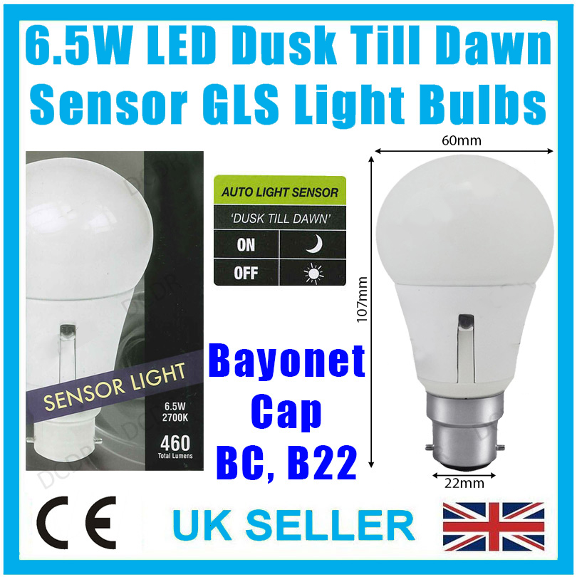 6 5w led gls dusk till dawn sensor security night light. Black Bedroom Furniture Sets. Home Design Ideas