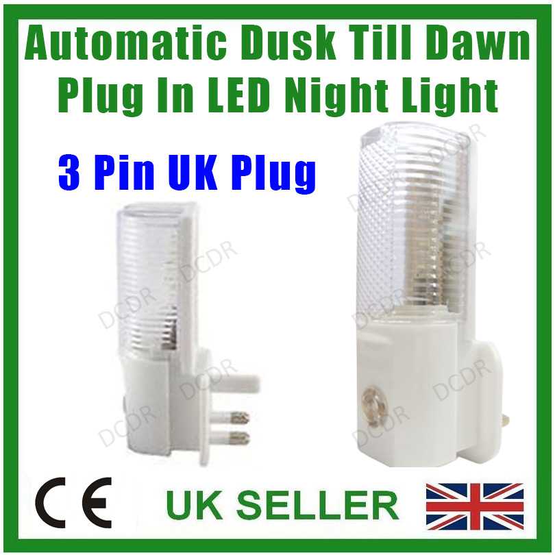 2x Led Night Light Automatic Dusk To Dawn Sensor For: Automatic Dusk Dawn Sensor Plug In LED Night Light
