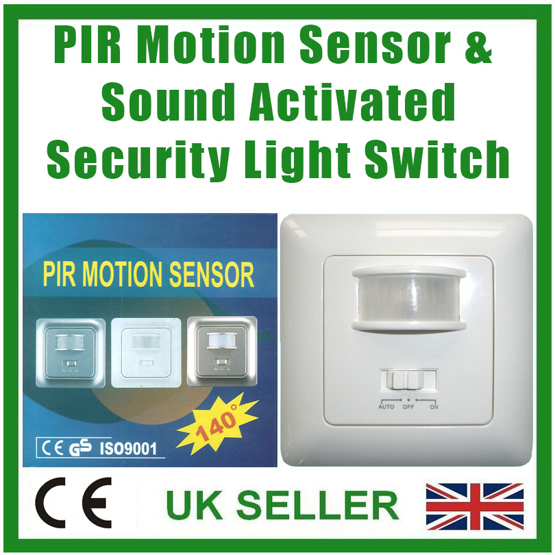 Sound And Light Control Delay Motion Sensor Switch For: PIR Motion Sensor & Sound Activated Security Light Switch