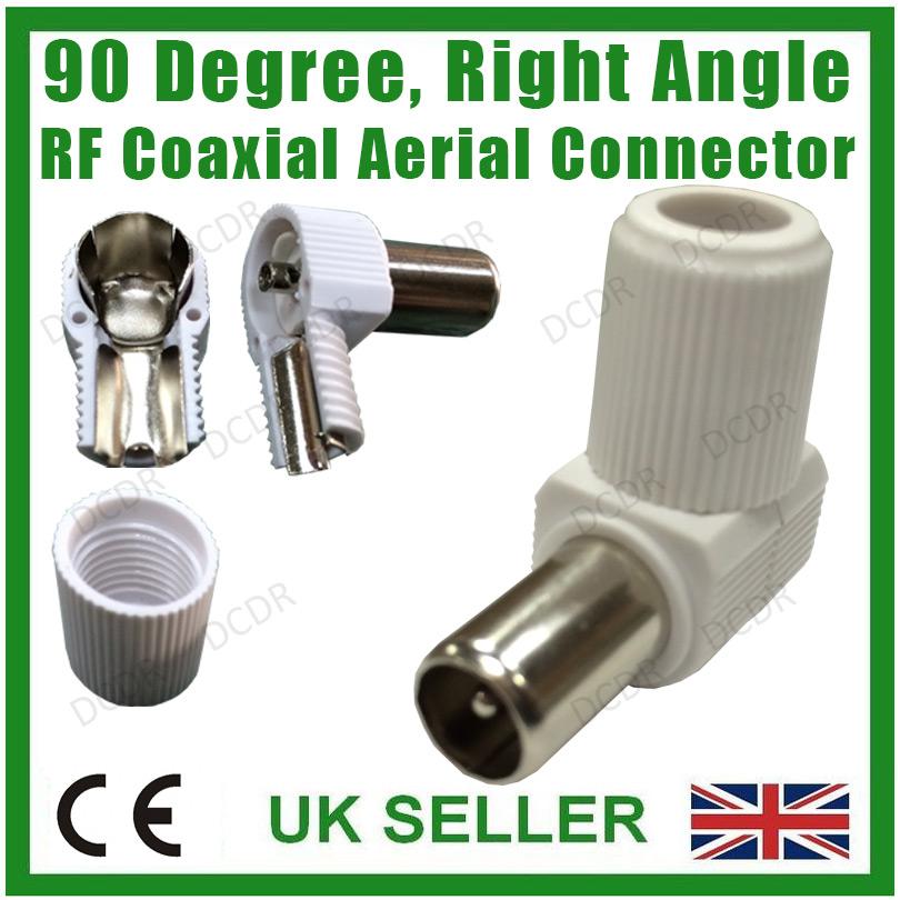 Connecteur angle droit rf coaxial antenne tv num rique for Cable antenne tv exterieure