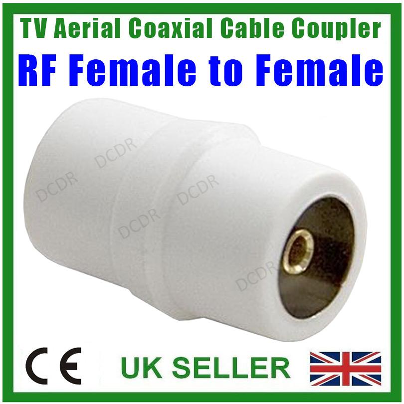 Antenne tv c ble coaxial coupleur rf femelle prise fil connecteur ebay - Prise antenne tv sans fil ...