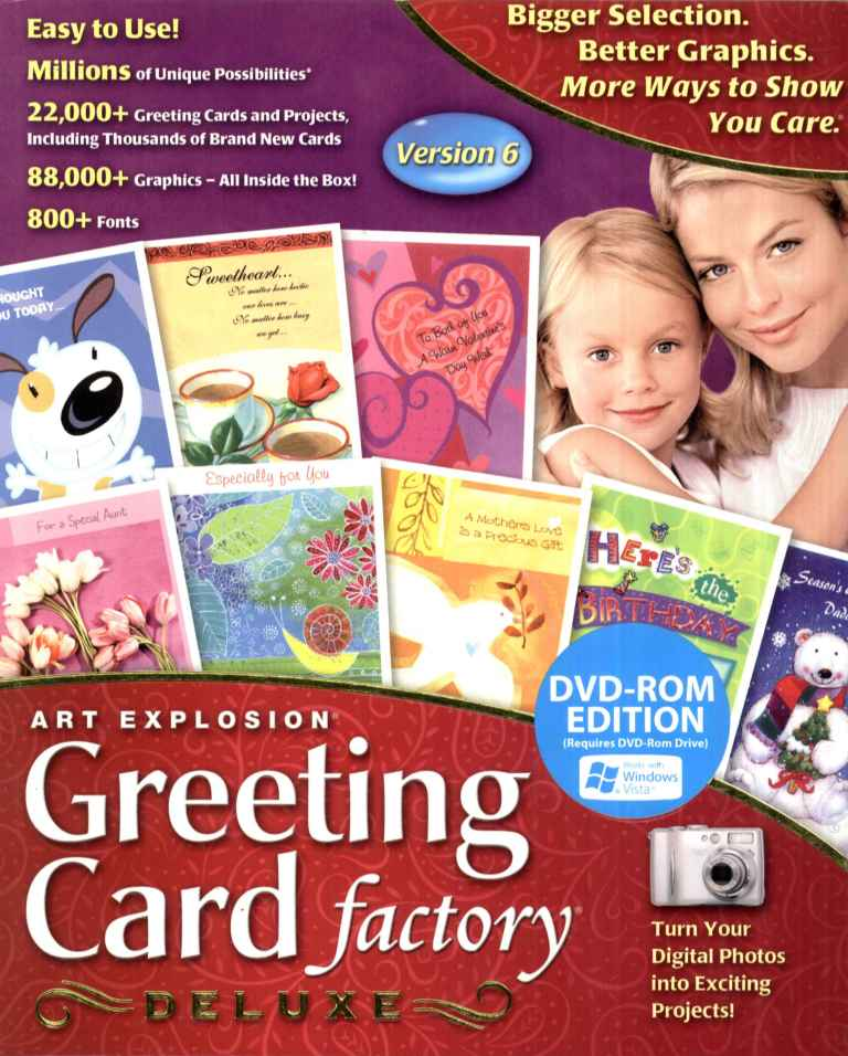 Greeting Card Factory Deluxe 11 Upgrade: Greeting Card Factory Deluxe, 22,000+ Templates, New