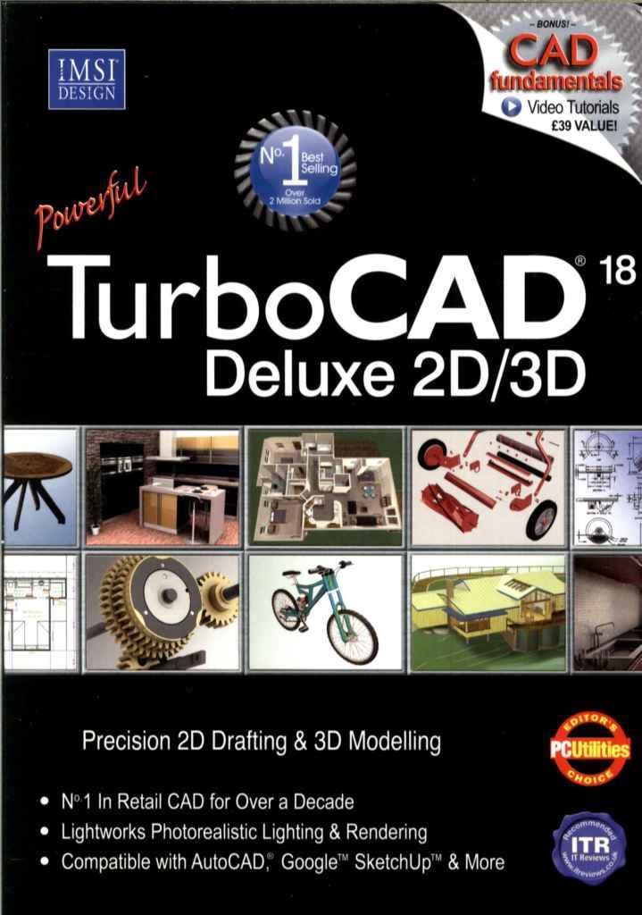 TurboCAD 18 V18 Deluxe 2D/3D includes CAD fundamentals Video ...