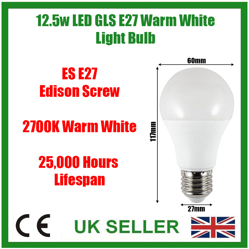 4 X 100W GLS = 11W LED ES E27 EDISON SCREW 3000K ENERGY SAVING POWERPLUS BULBS