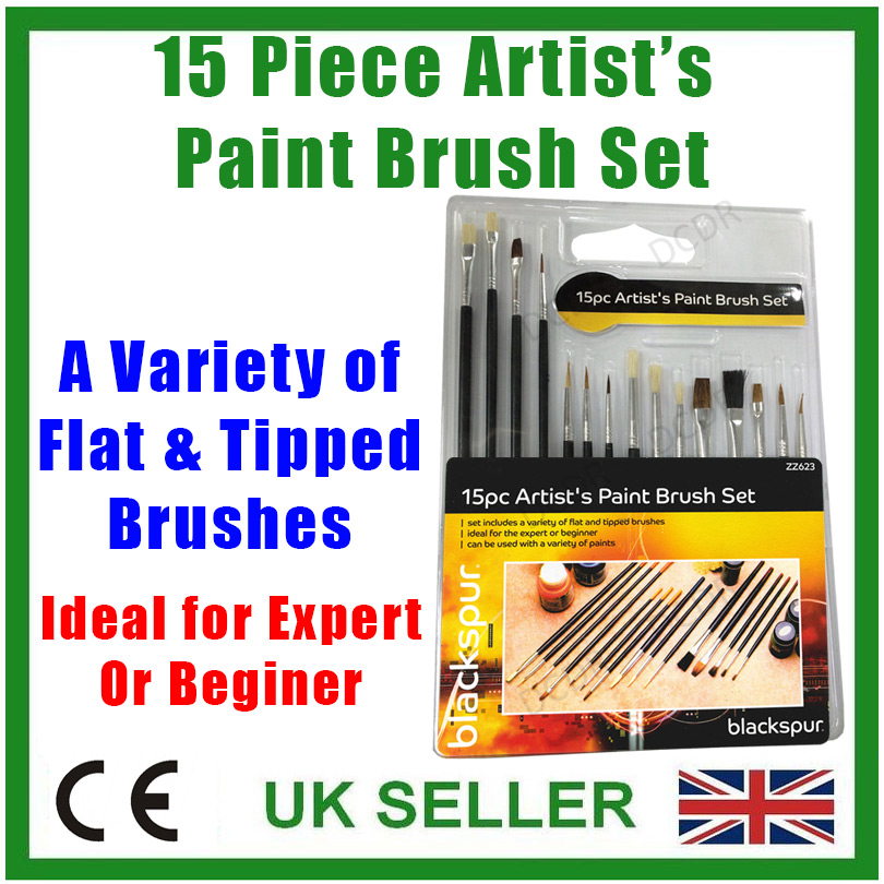 10Pcs Art Paint Brush Artist Brushes Set Fine Pointed For Water Painting I4F4