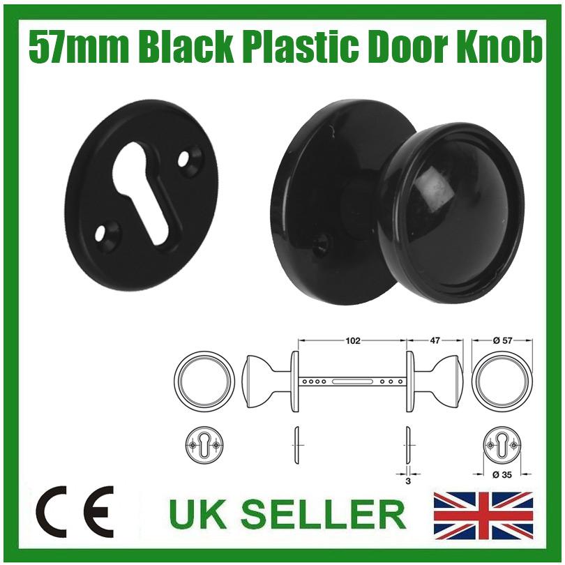 A BROWN PLASTIC DOOR KNOB BACK PLATE 57 MM DIAMETER MAY SUIT BAKELITE DOOR KNOB