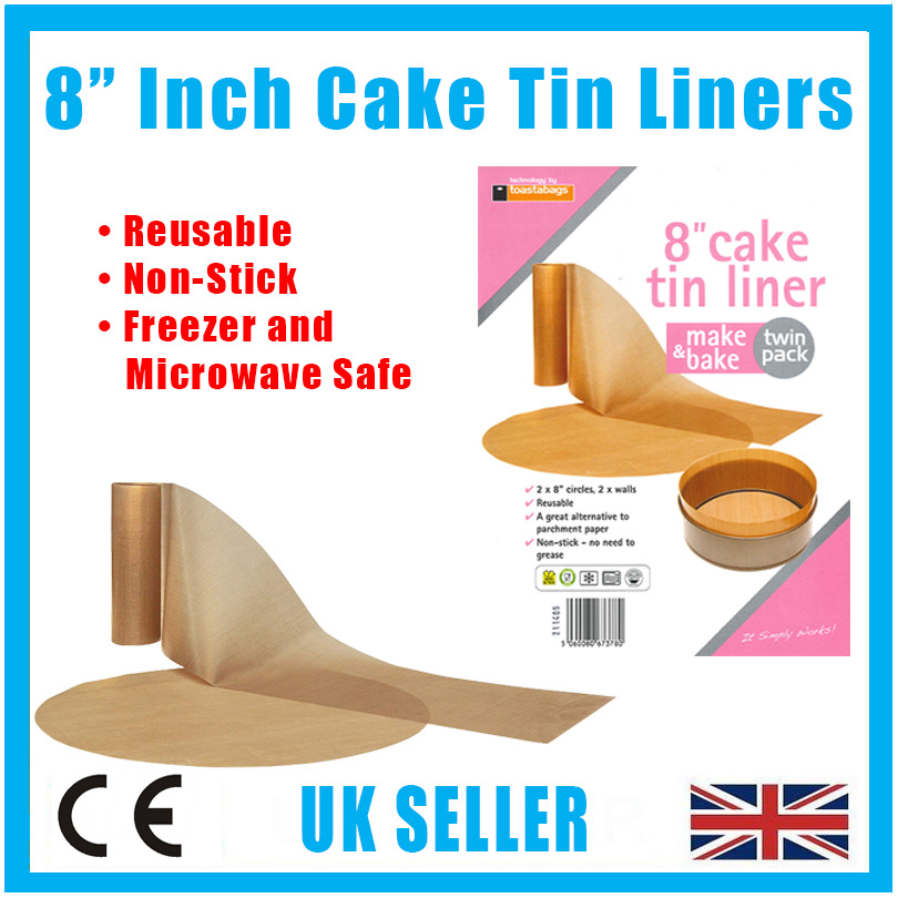 Toastabags Cake Tin Liner Non Stick Reusable Circle And Wall Liner  Inch  Inch Planit Products Ltd Christmas Ornament