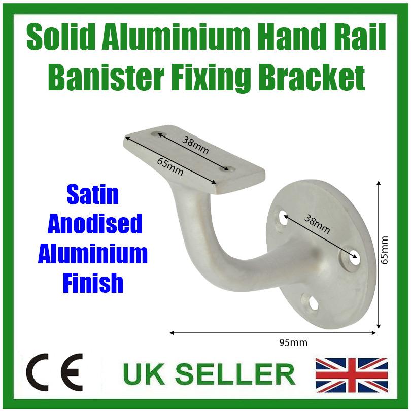 2x Laiton Massif Balustrade Support de Rampe Bannister Balcon Escaliers Rail