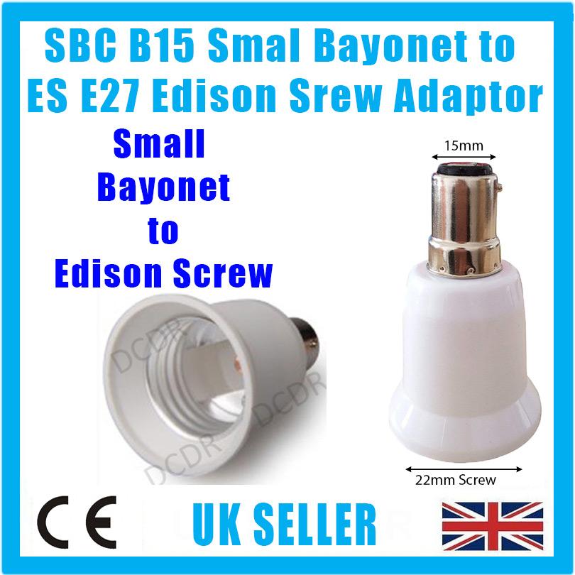 Small Bayonet SBC B15 To Edison Screw E27 ES Light Bulb Adaptor Converter Holder