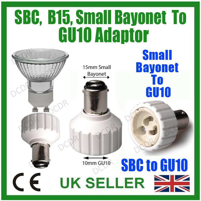 klein bajonett sbc b15 zu gu10 leuchtmittel adapter lampe steckdose konverter ebay. Black Bedroom Furniture Sets. Home Design Ideas