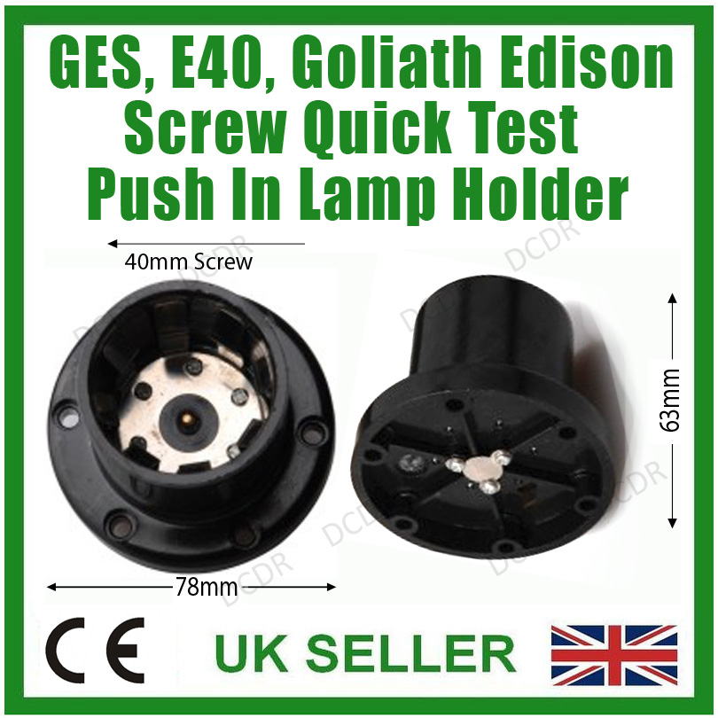 Bakelite Goliath Screw Socket E40 Surface Mounted Lamp Light Bulb Quick Holder