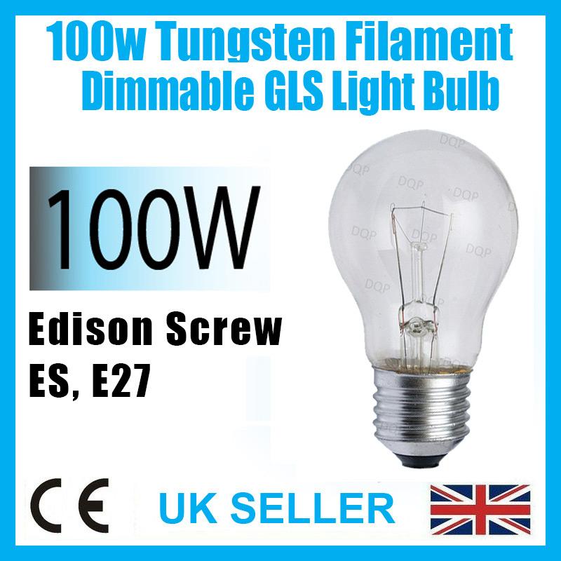 E27 Edison Pearl LED GLS Filament Bulbs B22 Bayonet 60W//80W Warm White Light