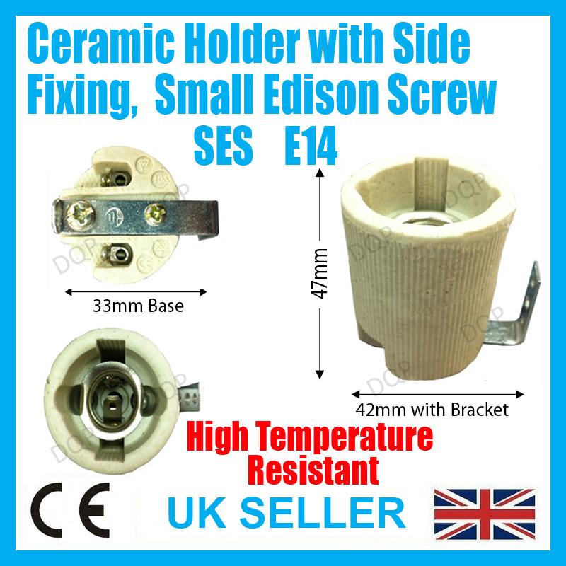 Kanlux E14 Ceramic Cap Light Bulb Holder Socket Bracket Porcelain Heat Lamp SES