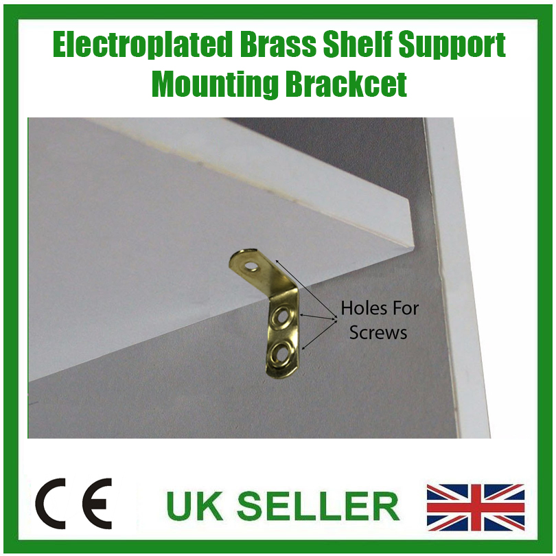 8x Brass Shelf Support Bracket, Kitchen, Cabinets ...