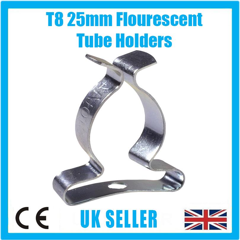 """1x T16 Terry Clips 2/"""" pouces 51 mm Tube Fluorescent Ressort En Acier Porte-outil"""