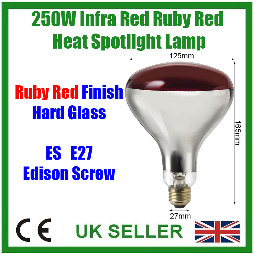 rhumatismes lampe musculaire healthcare 250W infra rouge chaleur ampoule rouge rubis es E27