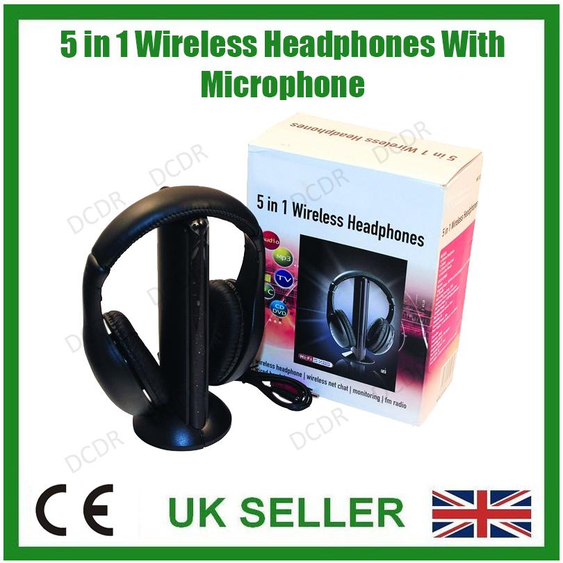 drahtlos 5 in 1 Bass Kopfhörer,Einbaut Mikrofon,Monitor,Radio ...