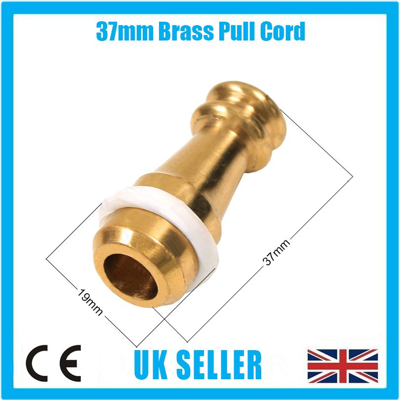 Weight For Bathroom Light Knot Wire 1x 38mm Brass Cord Pull Switch Curtains