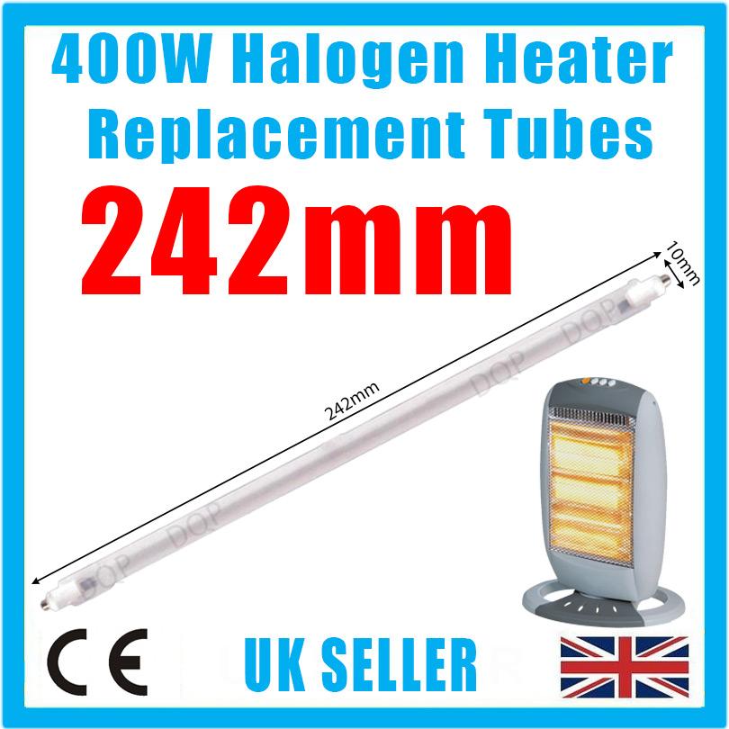 1 x 400w Riscaldatore Alogeno Ricambio Tubi 242mm Fuoco Asta Lampada per