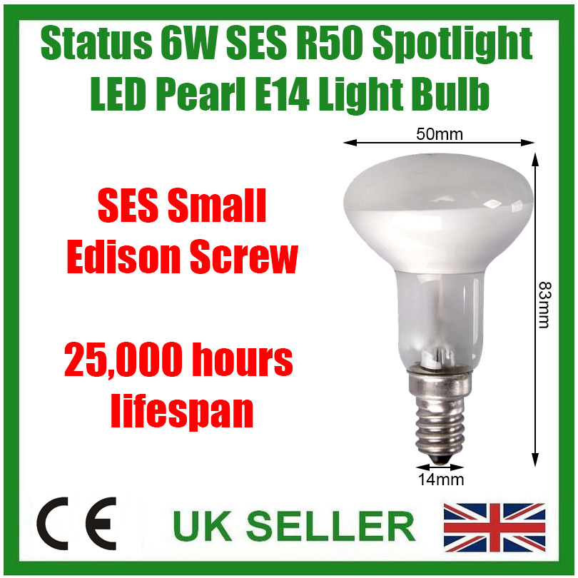 10x 6W =40W R50 Reflector Spotlight SES E14 Edison Screw LED Light Bulb Lamp