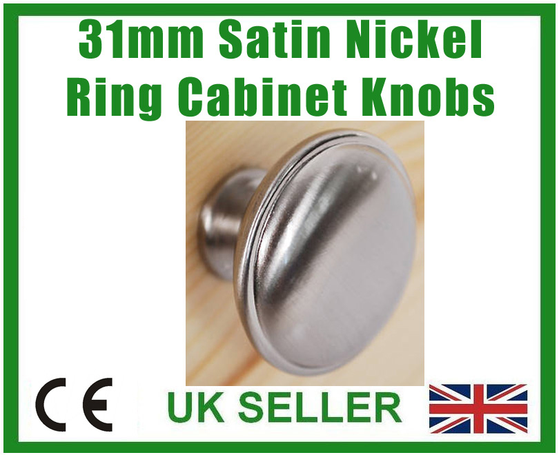 6x 31mm satin nickel effekt ring schrank t rgriffe schublade kn pfe ebay. Black Bedroom Furniture Sets. Home Design Ideas