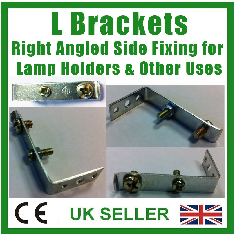L Bracket 90 Degree Right Angled Side Fixing for Ceramic Lamp Holder Other Uses