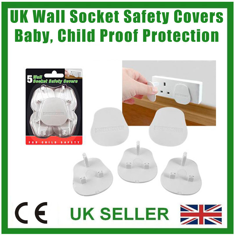 Baby Infant Toddler /& Child Proof UK Mains Wall Socket Safety Protection Covers